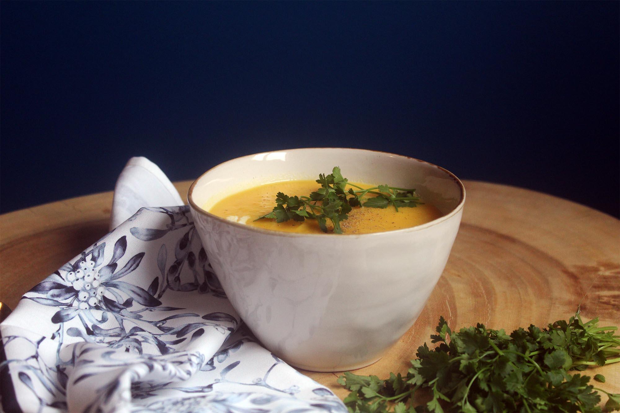 Sopa de Abóbora e Açafrão