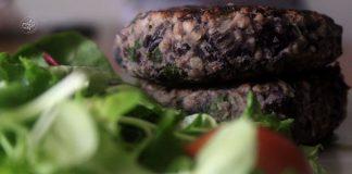 hambúrgueres de feijão preto